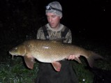 James Hart's thumping great, 13lb 14oz barbel