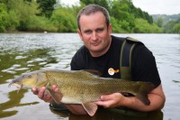 Steve Ringer got among the barbel too