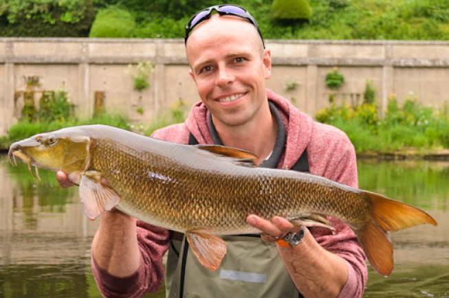 Although they made him wait, Deano bagged this stunning Wye fish
