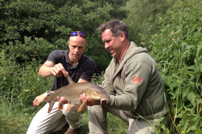 Dean Macey and David Seaman tackle the Kennet