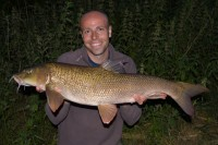 This monstrously long barbel weighed in at 12lb 5oz