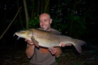Dean's latest huge barbel fell on an evening session