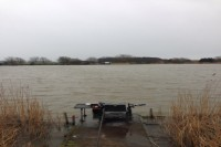 No surprise the weather was against the anglers during the day