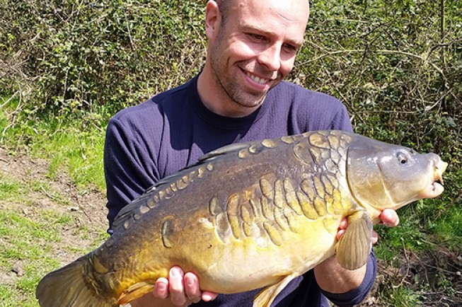 This pretty mirror was the best of several carp