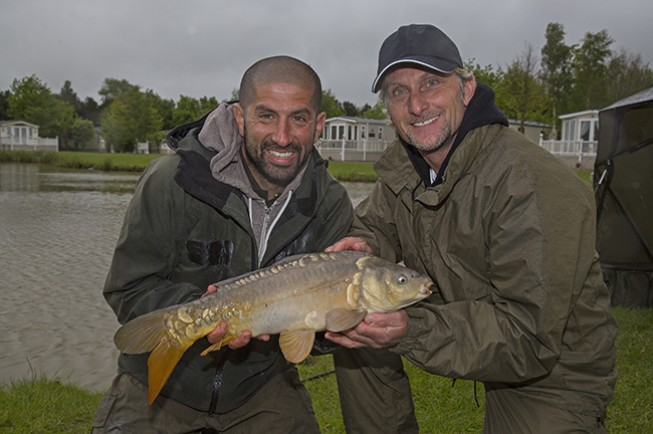 Carl struggled to get to grips with coarse fishing