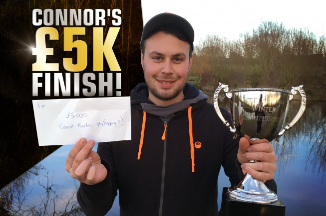 Connor won £5K in the Catch More Media League